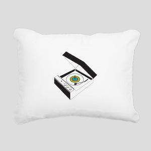 Record-Player Rectangular Canvas Pillow