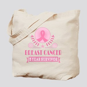 Breast Cancer 5 Year Vintage Tote Bag