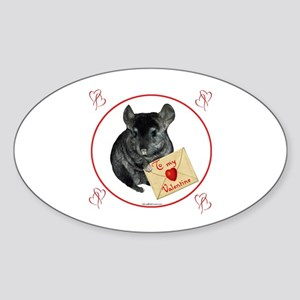 Chin Valentine Oval Sticker