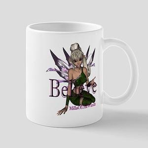 believe fairy green purple Mugs