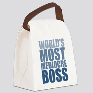 Worlds Most Mediocre Boss Canvas Lunch Bag