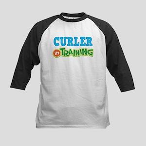 Curler in Training Kids Baseball Jersey