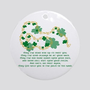 Irish Blessing Ornament (Round)