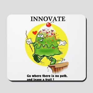 INNOVATE CARTOON QUOTE Mousepad