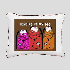 Whimsical Cats 5 Rectangular Canvas Pillow
