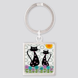 Whimsical Cats 4 Keychains