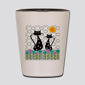 Whimsical Cats 4 Shot Glass