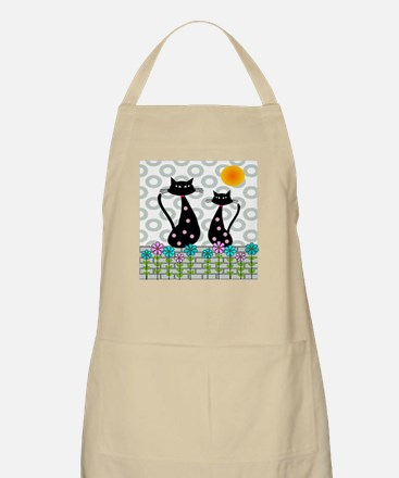 Whimsical Cats 4 Apron