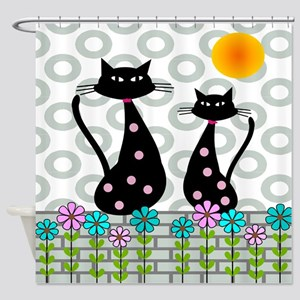 Whimsical Cats 4 Shower Curtain
