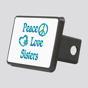 Peace Love Sisters Rectangular Hitch Cover