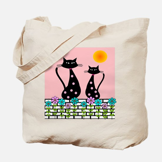 Whimsical Cats 3 Tote Bag