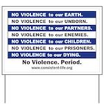No Violence Yard Sign