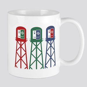 Happy-Water-Tower Mugs