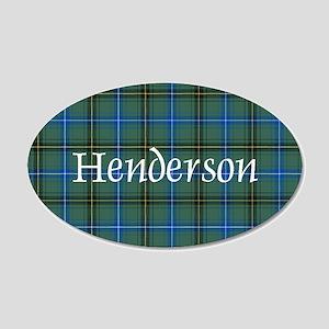 Tartan - Henderson 20x12 Oval Wall Decal