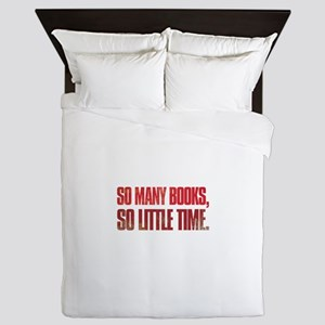 So many books, so little time Queen Duvet