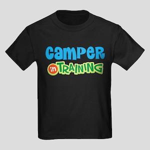 Camper in Training Kids Dark T-Shirt