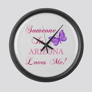 Arizona State (Butterfly) Large Wall Clock