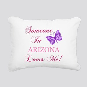 Arizona State (Butterfly) Rectangular Canvas Pillo