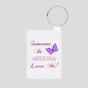 Arizona State (Butterfly) Aluminum Photo Keychain