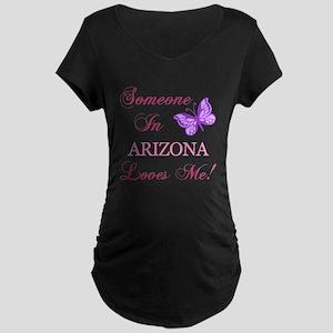 Arizona State (Butterfly) Maternity Dark T-Shirt