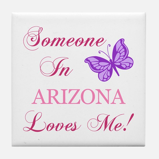 Arizona State (Butterfly) Tile Coaster