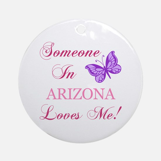Arizona State (Butterfly) Ornament (Round)