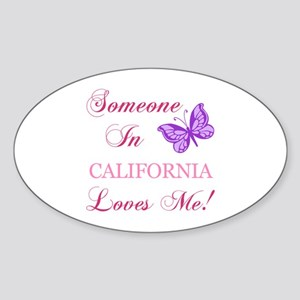California State (Butterfly) Sticker (Oval)