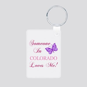 Colorado State (Butterfly) Aluminum Photo Keychain