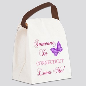 Connecticut State (Butterfly) Canvas Lunch Bag