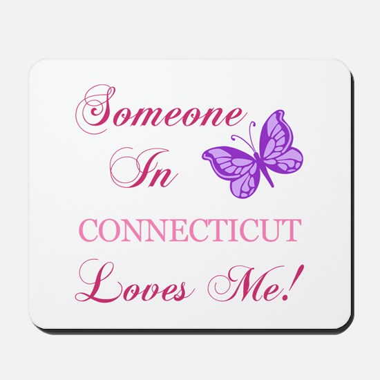 Connecticut State (Butterfly) Mousepad