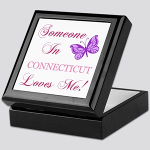 Connecticut State (Butterfly) Keepsake Box