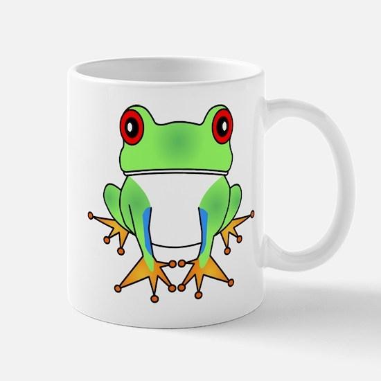 Cute Tree Frog Cartoon Mug