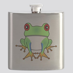 Cute Tree Frog Cartoon Flask