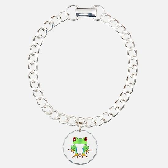 Cute Tree Frog Cartoon Bracelet