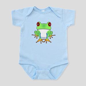 Cute Tree Frog Cartoon Infant Bodysuit