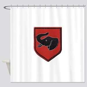 Rhodesian Army First Brigade Shower Curtain