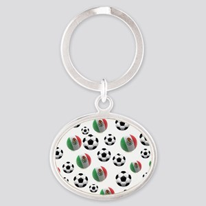 Mexican soccer balls Oval Keychain
