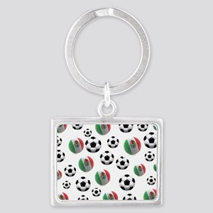 Mexican soccer balls Landscape Keychain