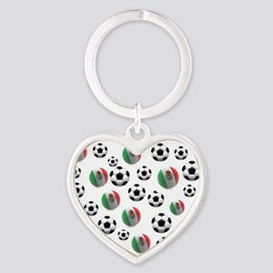 Mexican soccer balls Heart Keychain