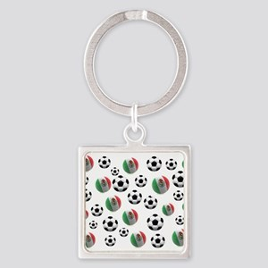 Mexican soccer balls Square Keychain