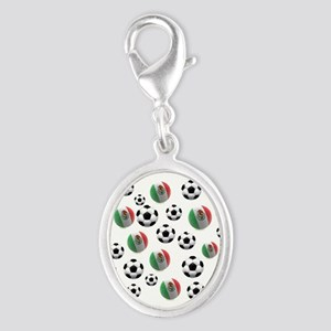 Mexican soccer balls Silver Oval Charm