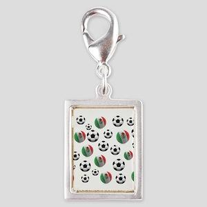 Mexican soccer balls Silver Portrait Charm