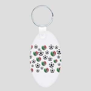 Mexican soccer balls Aluminum Oval Keychain