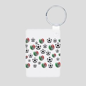 Mexican soccer balls Aluminum Photo Keychain