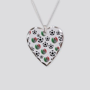 Mexican soccer balls Necklace Heart Charm