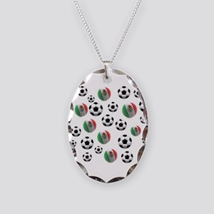 Mexican soccer balls Necklace Oval Charm