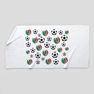 Mexican soccer balls Beach Towel