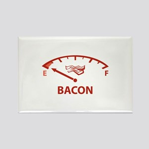 Running On Empty : Bacon Rectangle Magnet