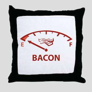 Running On Empty : Bacon Throw Pillow