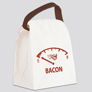 Running On Empty : Bacon Canvas Lunch Bag